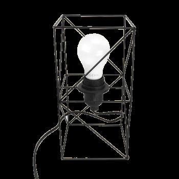 Lampe de table en métal mate